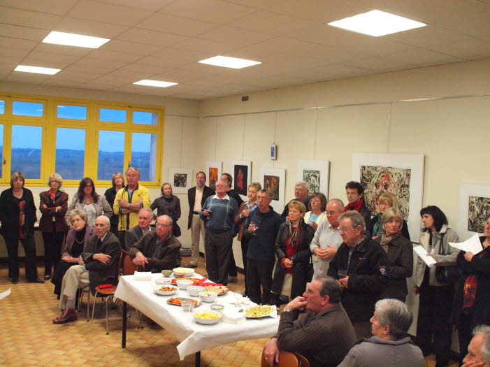 Le vernissage à la Mairie d'Escassefort le 3 mars 2012